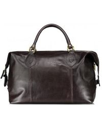 Barbour - Leather Medium Traveller - Lyst