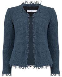 IRO - Shavani Jacket In Grey Denim - Lyst