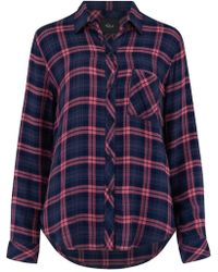 Rails - Hunter Shirt In Navy And Mauve - Lyst