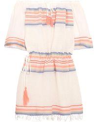 lemlem - Elsi Tassel Tie Tunic Dress In Pink - Lyst