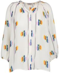 fc478ab76cf Tucker - Classic Blouse In Follow The Rainbow - Lyst