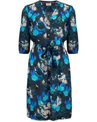 Pyrus - Frankie Dress In Watercolour Floral Navy - Lyst