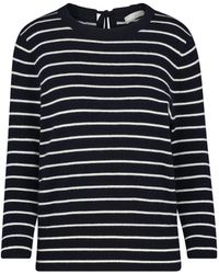 Vince - Striped Tie Back Jumper In Coastal And White - Lyst
