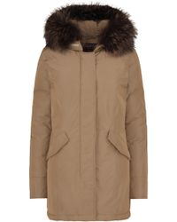 Woolrich - Luxury Arctic Fox Parka In Taupe - Lyst