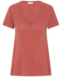 American Vintage - Jac51 Short Sleeve T-shirt In Vine Peach - Lyst