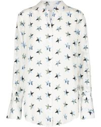 Equipment - Rossi Star Print Shirt In Bright White Multi - Lyst