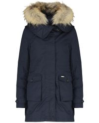 Woolrich - Scarlett Navy Shell Jacket And Cotton Parka - Lyst