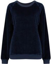 American Vintage - Isac Sweatshirt In Navy Velour - Lyst