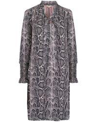 Rebecca Taylor - Snake Print Shift Dress - Lyst