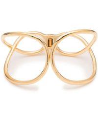 Trina Turk - Golden Wave Twisted Cuff Bracelet - Lyst