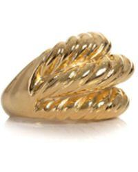 Trina Turk - Polished Gold 3 Rib Twist Ring - Lyst