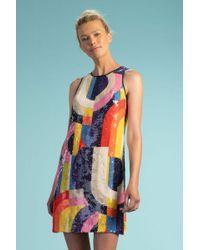 22bdaafed5 Emilio Pucci Long-sleeve Kaleidoscope-print Dress in Pink - Lyst