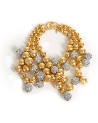 Trina Turk - Gold Bead Cluster Necklace - Lyst