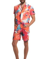 Mr Turk - Levan Short Jumpsuit - Lyst