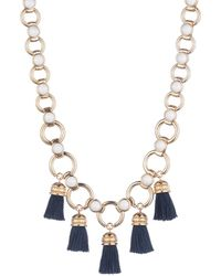 Trina Turk - Beads In Bloom Tassel Link Necklace - Lyst