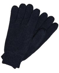 SELECTED Navy New Wool Gloves - Blue