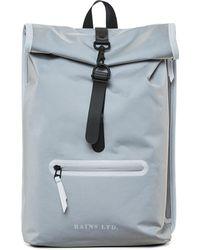Rains - Reflective Gray Ltd Roll Top Rucksack - Lyst