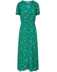 Sessun - Menthol Henley Green Upala Midi Tea Dress - Lyst