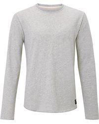 Edwin - Grey Cotton Terry Sweater - Lyst