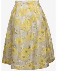0268aae04c Baum und Pferdgarten - Yellow Floating Flowers Satinka Skirt - Lyst