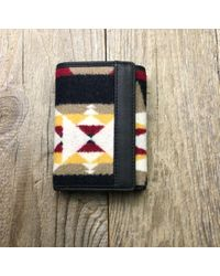 Pendleton Tucson Khaki Wool And Cotton Falcon Cove Tri Fold Wallet