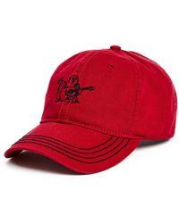 8cec611345f Lyst - True Religion Shiny Buddha Bucket Hat in Red for Men