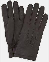 Turnbull & Asser - Bark Kirkdale Leather Gloves - Lyst