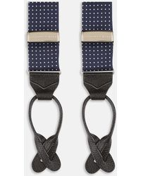 Turnbull & Asser - Navy And White Spot Adjustable Silk Braces - Lyst
