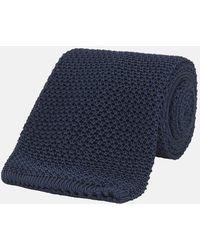 Turnbull & Asser - Navy Knitted Silk Tie - Lyst