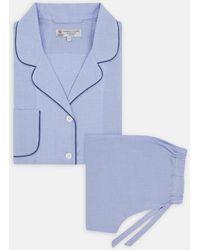 Turnbull & Asser - Ladies' Blue Cotton Pyjama Set - Lyst