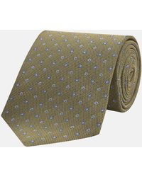 Turnbull & Asser - Yellow Pindrop Silk Tie - Lyst