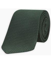 Turnbull & Asser - Dark Green Grenadine Silk Tie - Lyst