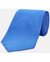 Turnbull & Asser | Royal Blue Herringbone Silk Tie | Lyst