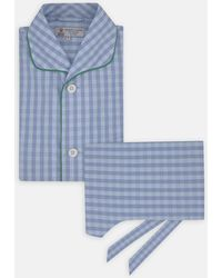 Turnbull & Asser - Blue And Green Candy Check Cotton Pyjama Set - Lyst