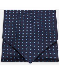 Turnbull & Asser - Navy And Blue Spot Silk Ascot Tie - Lyst