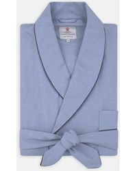Turnbull & Asser - Blue And Navy Piped Heavy Cotton Gown - Lyst