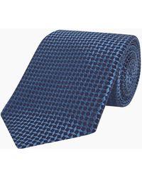 Turnbull & Asser - Blue Geometry Silk Tie - Lyst