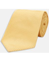 Turnbull & Asser - Yellow Lace Silk Tie - Lyst