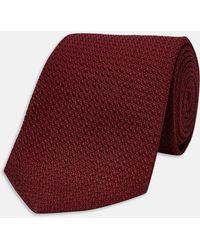 Turnbull & Asser - Long Burgundy Grenadine Silk Tie - Lyst