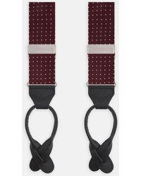Turnbull & Asser - Burgundy Mini Spot Adjustable 50oz Foulard Silk Braces - Lyst