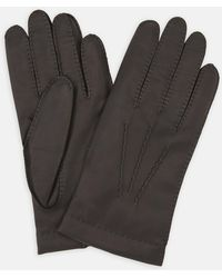 Turnbull & Asser - Walden Brown Leather Gloves - Lyst