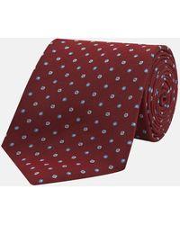 Turnbull & Asser - Red Pindrop Silk Tie - Lyst