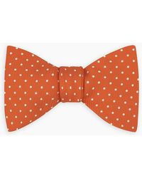 Turnbull & Asser - Orange And White Small Spot Printed Silk Bow Tie - Lyst
