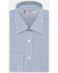 7f5f90d8 Lacoste Dash Print Long Sleeve Shirt in Blue for Men - Lyst