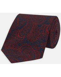 Turnbull & Asser - Navy And Red Portrait Paisley Silk Tie - Lyst