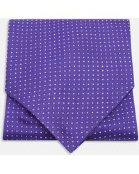 Turnbull & Asser - Purple And White Small Spot Ascot Tie - Lyst