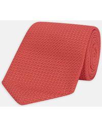 Turnbull & Asser - Coral Grenadine Silk Tie - Lyst