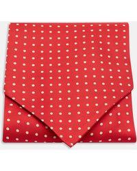 Turnbull & Asser - Red And White Medium Spot Silk Ascot Tie - Lyst