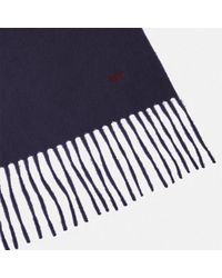 Turnbull & Asser - Monogrammed Navy Pure Cashmere Scarf - Lyst