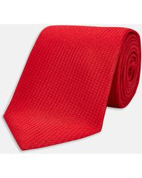 Turnbull & Asser - Red Lace Silk Tie - Lyst